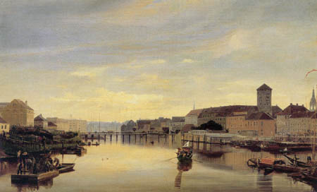 Eduard Gaertner - View from the Jannowitzbruecke