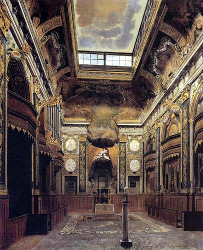 Eduard Gaertner - Interior of  the Castle Chapel, Charlottenburg
