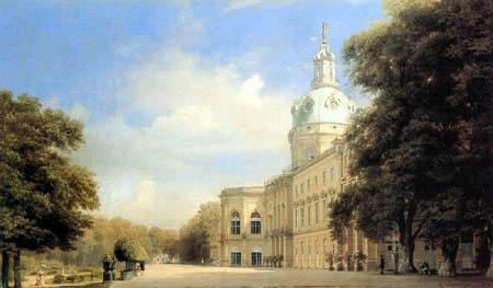 Eduard Gaertner - Charlottenburg Palace à partir du côté du jardin