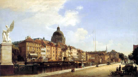Eduard Gaertner - View of the Berlin Castle and Schlossfreiheit
