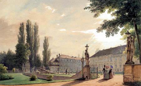 Eduard Gaertner - Ansicht vom Schloß Bellevue