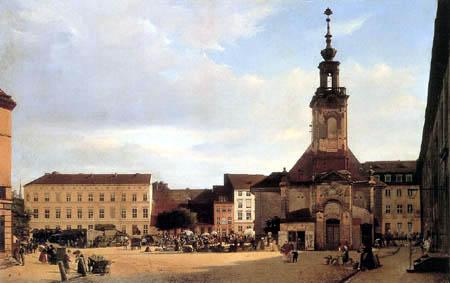 Eduard Gaertner - St. Gertraudenkirche et Spittelmarkt, Berlin
