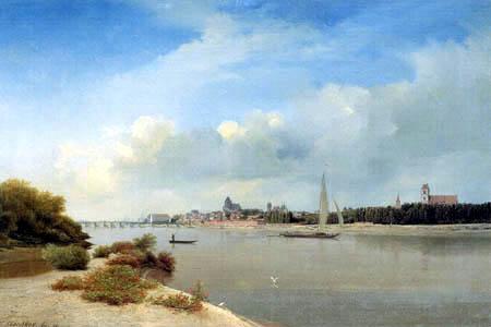 Eduard Gaertner - Toruń on the Vistula