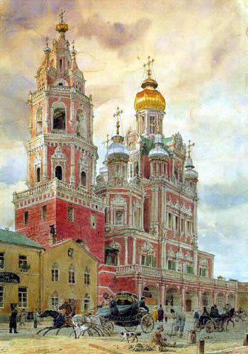 Eduard Gaertner - Church near Pokrovka