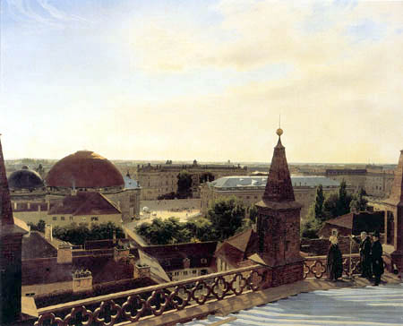Eduard Gaertner - View from a church roof in Berlin