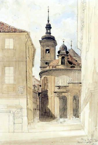 Eduard Gaertner - Welsche Kapelle zu Mariä Himmelfahrt