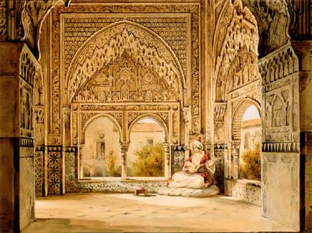 Wilhelm Gail - Der Mirador de Daraxa, Alhambra