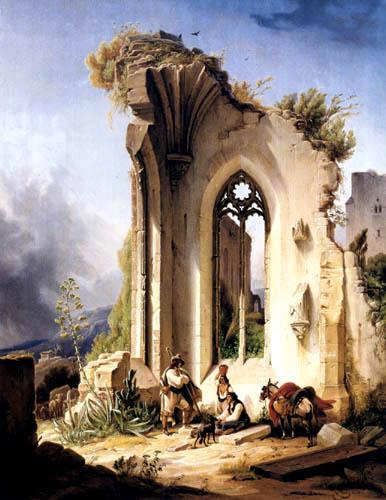 Wilhelm Gail - Klosterruine bei Valencia
