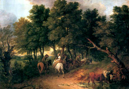 Thomas Gainsborough - Farmers coming from the market
