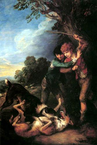 Thomas Gainsborough - Junge Schafhirten mit kämpfenden Hunden
