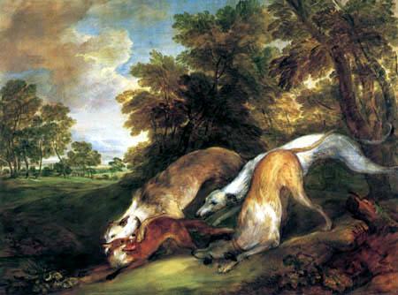 Thomas Gainsborough - Hunde fangen einen Fuchs
