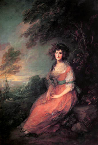 Thomas Gainsborough - Portrait of Mrs. Sheridan