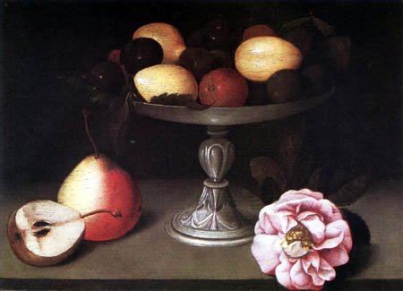 Fede Galizia - A tazza with fruit and rose