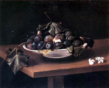 Fede Galizia - Still life with a bowl of fruit and two jasmin flowers