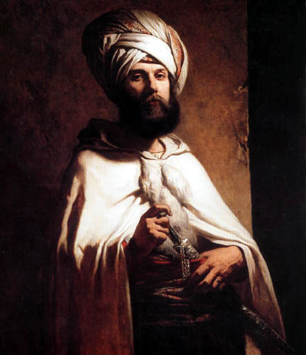 Louis Gallait - Charles Cousin in a Arabian costume
