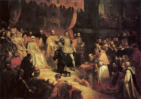 Louis Gallait - Abdication of Charles V