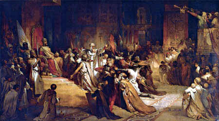 Louis Gallait - Coronation of Baudoin of Constantinople