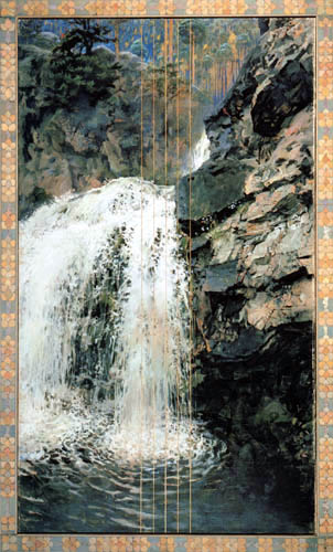 Akseli Gallen-Kallela - Waterfall of Maentykoski