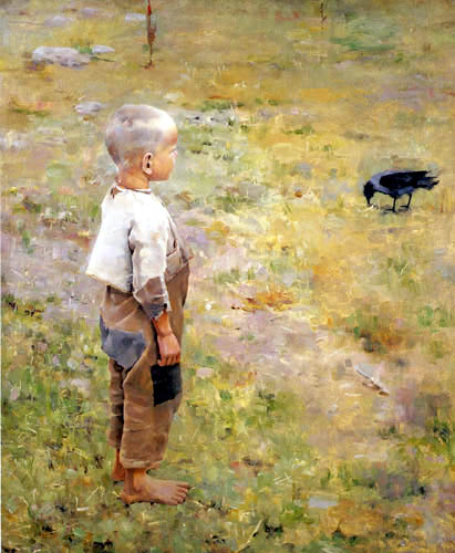 Akseli Gallen-Kallela - Boy with Crow