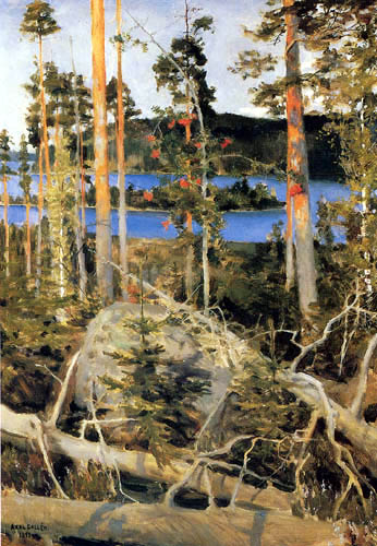 Akseli Gallen-Kallela - Lake in wilderness