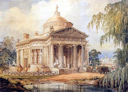 Joseph Michael Gandy - Die Grabkapelle von Soane für den Duke von York