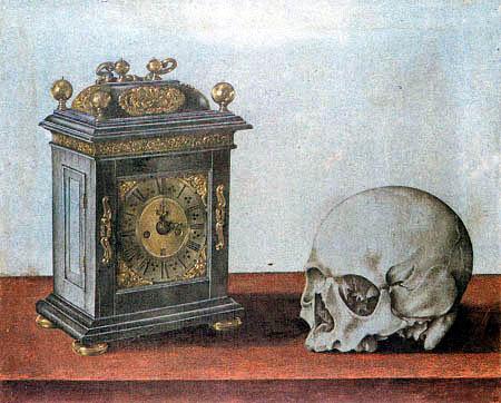 Giovanna Garzoni - A clock and a skull