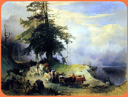 Friedrich Gauermann - Homecoming of the Alps