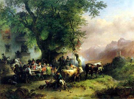 Friedrich Gauermann - Target practice in Valley of Passaier