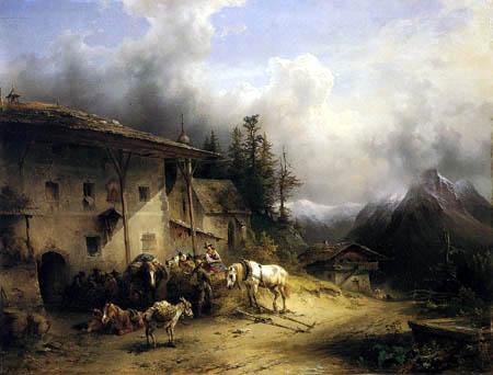 Friedrich Gauermann - Tavern