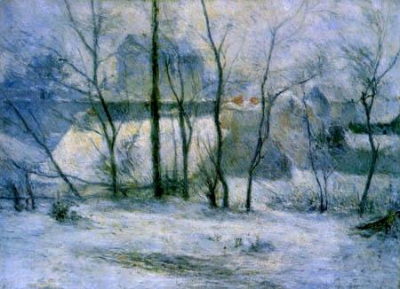 Paul Gauguin - A snowy  garden