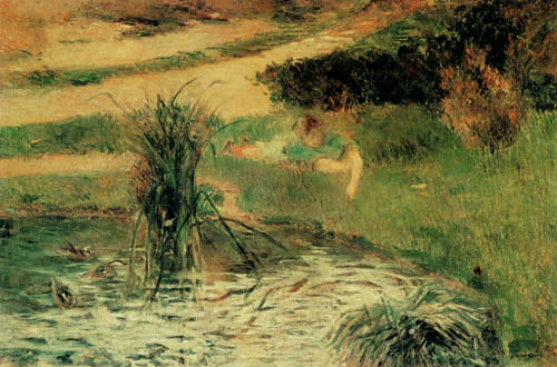 Paul Gauguin - On the duck pond