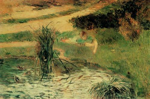 Paul Gauguin - Am Ententeich