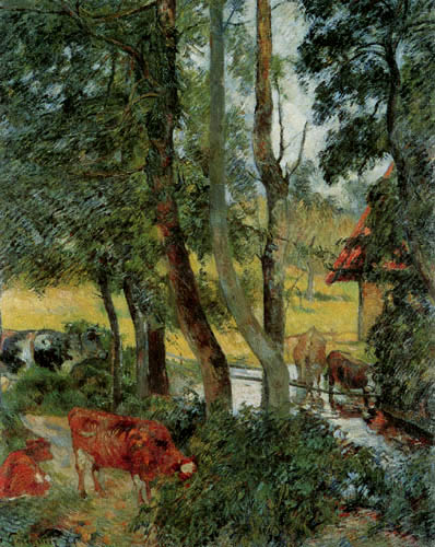 Paul Gauguin - Kühe an der Tränke
