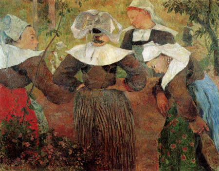 Paul Gauguin - Four breton girls dancing