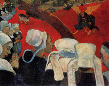 Paul Gauguin - The vision after the Sermon