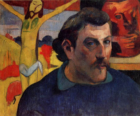 Paul Gauguin - Selfportrait with the yellow christ