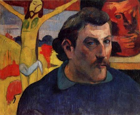 Paul Gauguin - Selbstbildnis mit gelbem Christus