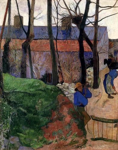 Paul Gauguin - Häuser in Le Pouldu