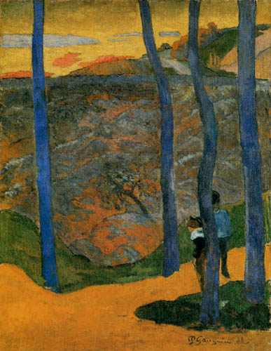 Paul Gauguin - The blue trees