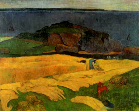 Paul Gauguin - The harvest at the sea, Le Pouldu