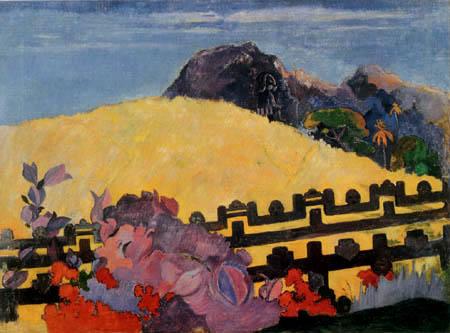 Paul Gauguin - Dort liegt der Tempel, Parahi te marae
