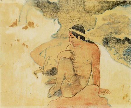 Paul Gauguin - Warum bist du eifersüchtig?, Studie