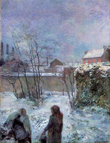 Paul Gauguin - The Rue Carcel in winter
