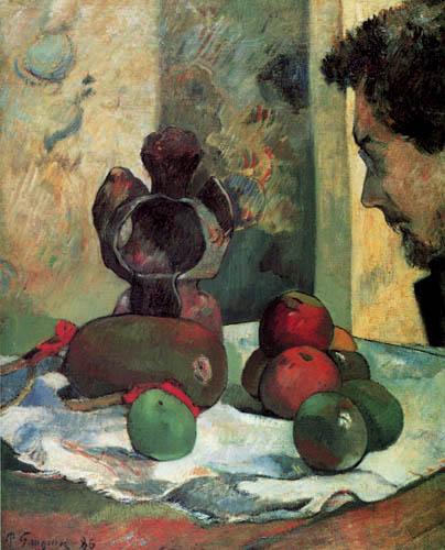 Paul Gauguin - Naturaleza muerta con el perfil de Charles Laval