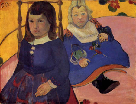 Paul Gauguin - Portrait of Paul and Jean Schuffenecker