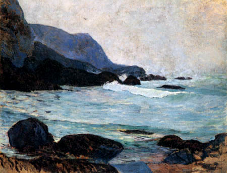 Paul Gauguin - The coast near Bellangenay