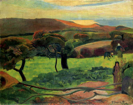 Paul Gauguin - Landscape in Brittany, Le Pouldu