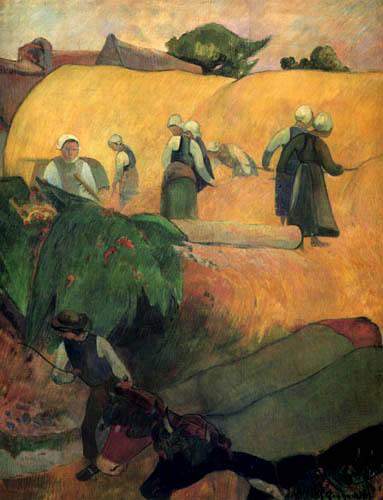 Paul Gauguin - Harvest in the Bretagne
