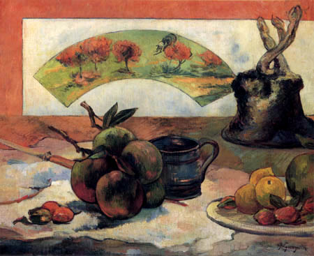 Paul Gauguin - Stillleben mit Fächer