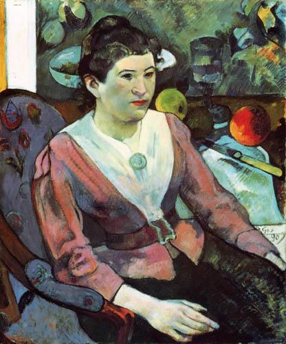 Paul Gauguin - Portrait of Marie Derrien Lagadu